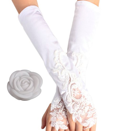 2013Newestseller Wedding Party Favor Decoractions Sets (Satin Yarn Fingerless Gloves + 7 Colors Rose Night Lamp Light) front-509482
