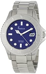 Freelook Women's HA1400-6 Sub Aqua Stainless-Steel Navy Blue Dial Swarovski Indexes Watch