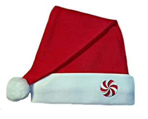 Red Baby Santa Hat with Peppermint Candy (3-6 Months to 16 Pounds)
