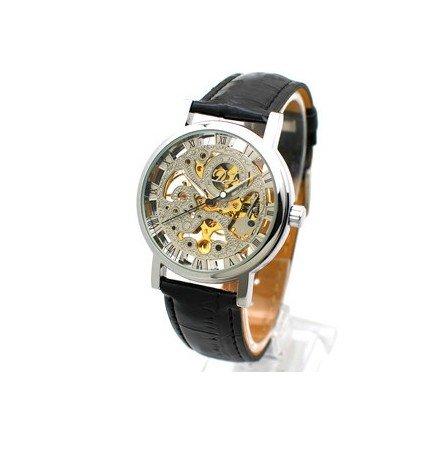 Kano Bak Black Color Quartz Fashion Weave Wrap Around Leather Bracelet Lady Woman Wrist Watch