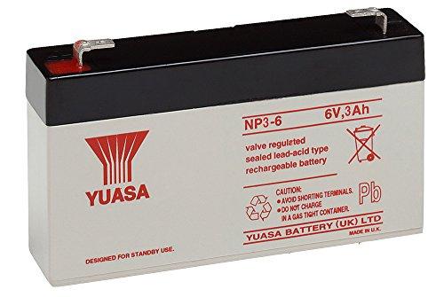 Batterie ploMB yuasa yuasa nP 3-6) : 134 mm