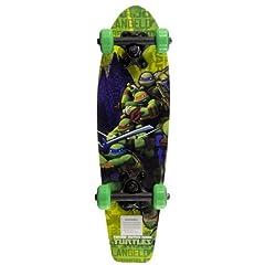 Buy Teenage Mutant Ninja Turtles Kid's The Green Team Wood Cruiser Skateboard, 21-Inch by Teenage Mutant Ninja Turtles