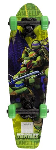 Best Price! Teenage Mutant Ninja Turtles Kid's The Green Team Wood Cruiser Skateboard, 21-Inch