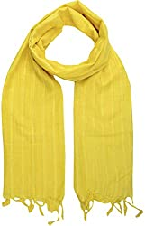 Sahiba Creation trendy and colourful women stole for all time wear(light yellow)