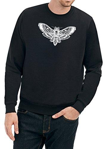 Skull Moth Sweater Nero Certified Freak-L