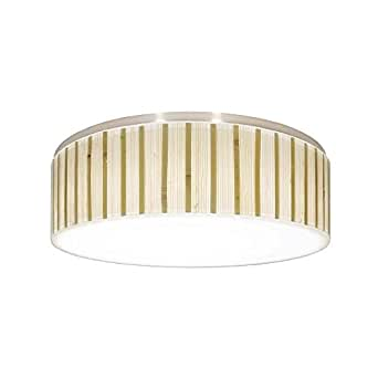 decorative recessed ceiling light trim with bamboo drum shade. Black Bedroom Furniture Sets. Home Design Ideas