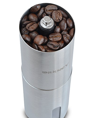 ORKNEY Manual Coffee Grinder with Ceramic Conical Burr for Precision Grinding