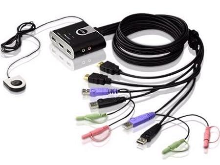 Aten Switch CS692-AT Commutateur 2 x USB / 2 x HDMI / 2 x Audio ports