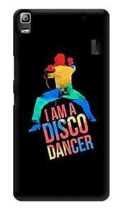 """Humor Gang I Am A Disco Dancer Printed Designer Mobile Back Cover For """"Lenovo k3 note - Lenovo A7000 - Lenovo A7000 Plus - Lenovo A7000 Turbo"""" (3D, Glossy, Premium Quality Snap On Case)"""