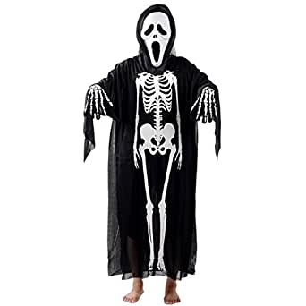 WenMei Halloween Skeleton Skull Ghost Evil Devil Cosplay Costume With Mask