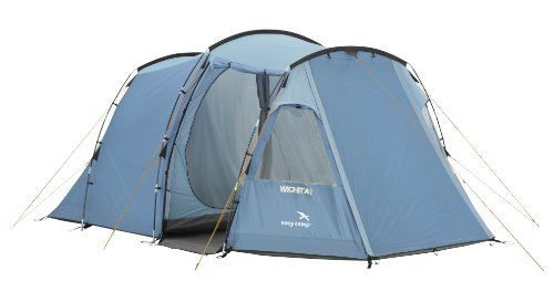 Zelt 4 Personen Test : Easy camp tunnel zelt wichita blau