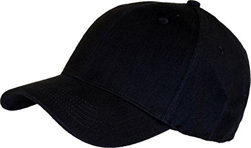 Absolute Apparel uomini adulti Casualwear Fully Covered Spandex Pee Cap FLEXFIT Black Taglia unica