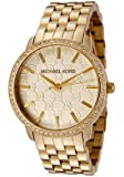41aY 9XxAEL. SL160  Michael Kors Womens MK3120 Gold 5 Link Round Argyle MK Glitz Watch Reviews