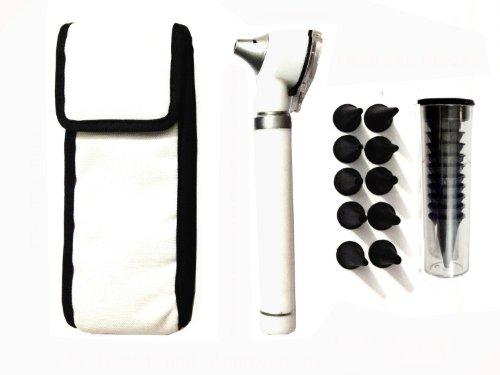 Zzzrt Pro Physician 2.5V Halogen Ligh Fiber Optic Otoscope Mini Pocket Medical Ent Diagnostic Set White + Free Protective Cover