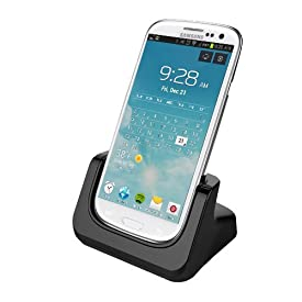 RND Dock for Samsung Galaxy S4 with Audio out and Dock mode (compatible without or with a slim-fit case)
