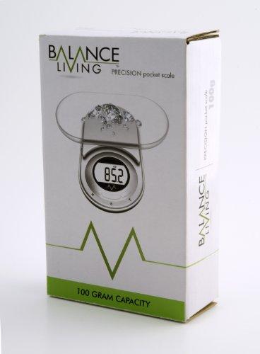 Balance Living. Balance de Poche Electronique Precision 0.01-100g. Couleur Argentée