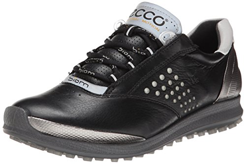 ECCO Womens Golf Biom Hybrid 2 Scarpe da Golf, Donna, Nero(Black/Buffed Silver 54443), 37