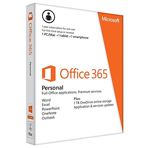MS Office 365 Personal Mac/Win Subscription P2 EuroZone Medialess 1Year Spanish (ES)