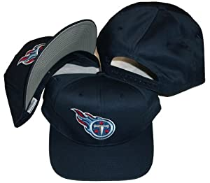 Tennessee Titans Navy Snapback Adjustable Plastic Snap Back Hat Cap by Logo Athletic