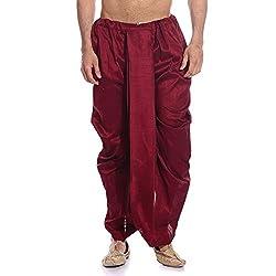 Tag 7 Mens Silk Blend Dhotis (DH04_Maroon_Free Size)