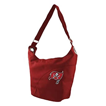 NFL Tampa Bay Buccaneers Ladies Color Sheen Hobo Purse, Red by Littlearth