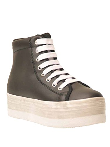 JC PLAY BY JEFFREY CAMPBELL HOMG LEA WASH BLACK/WHITE (40)