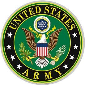 US Military Armed Forces XL Sticker Decal - U.S. Army - United States Army Eagle Seal Logo 12