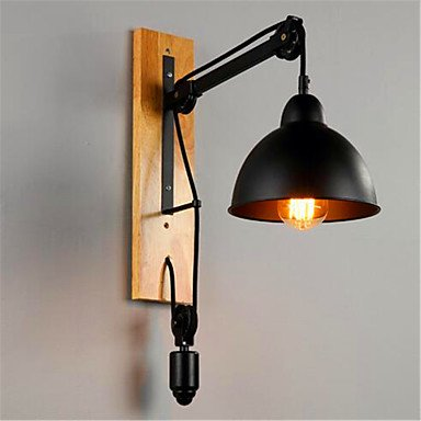 CNMKLM Loft American Retro Creative Iron Industrial Aisle Dining Room Balcony Wall Lifting Pulley Wall Lamp , 220-240v