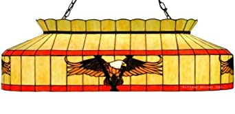 Victory Eagle Tiffany Stained Glass Billiard Pendant Lighting Fixture 39.5 Inches L