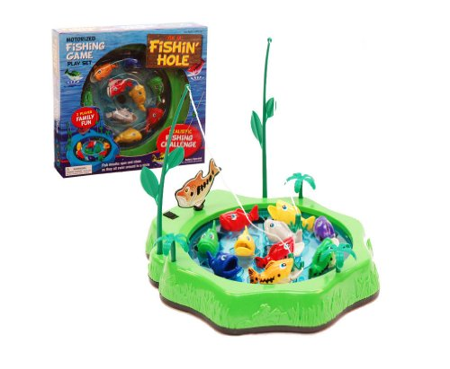 Motorized Fishing Game Play Set w/ 2 Fishing Poles