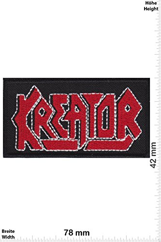 Patch - Kreator - red silver -Thrash-Metal-Band - Musicpatch - Rock - Vest - Iron on Patch - toppa - applicazione - Ricamato termo-adesivo - Give Away