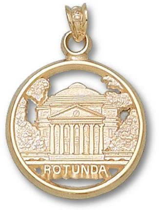 Virginia Cavaliers Rotunda 5 8 Pendant - 14KT Gold Jewelry by Logo Art