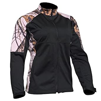 Mossy Oak Ladies Snow Windproof SOFT Shell Fleece Lined Jacket by Mossy Oak Pink