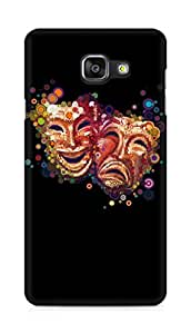 Amez designer printed 3d premium high quality back case cover for Samsung Galaxy A5 (2016 EDITION) (Masks emotions colorful)