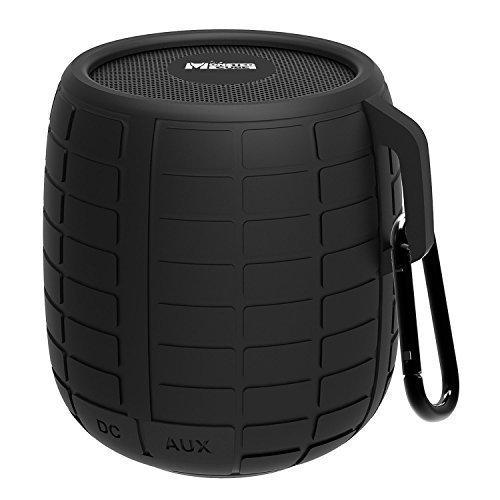 Monstercube Bomb speaker bluetooth 3.0 nero, ottimo per doccia e attività all'aria aperta, 10 metri di portata Bluetooth, pratico, protetto dagli schizzi d'acqua, vivavoce portatile con microfono incorporato per agevolare le chiamate, 4 ore di riproduzione