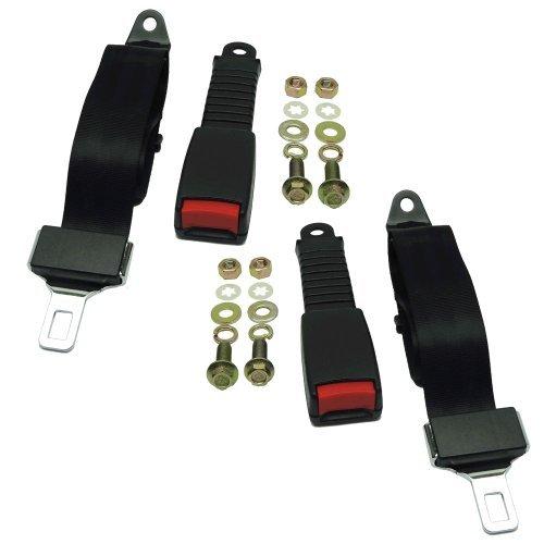 (2) Universal Seat/Lap Belt Kits for Club Car, Yamaha, EZGO Golf Carts- Seatbelt (Club Car Belt compare prices)