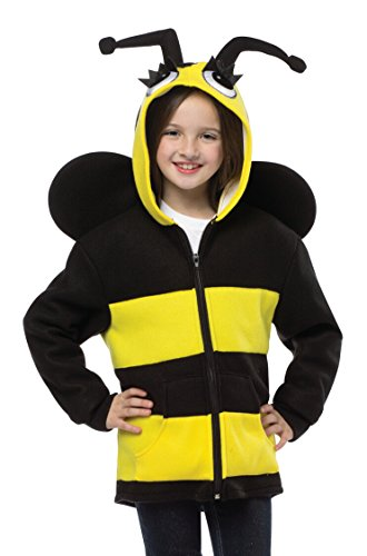 Rasta Imposta Cute Funny Kids Bumble Bee Zip Up Halloween Costume Hoodie