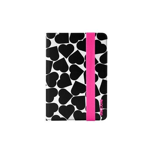 Incase Book Jacket For Ipad Mini - White/Black Hearts - Cl60379