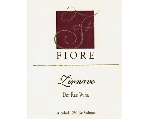 "Nv Fiore Winery ""Zinnavo"" Red Blend 750 Ml"