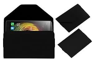 Acm Premium Pouch Case For Lenovo Vibe K4 Note Flip Flap Cover Black