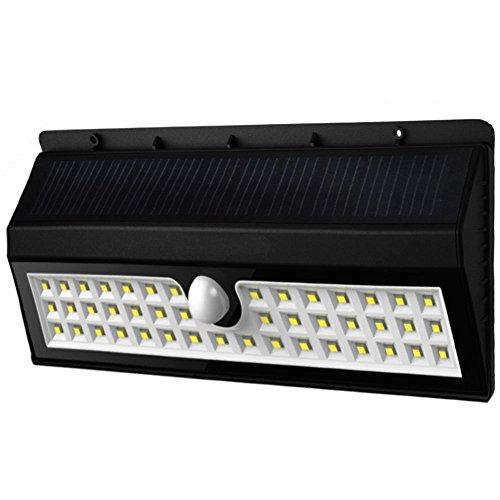 Kacuco 3000mAh, 1600Lumen Lampada Wireless ad Energia Solare da Esterno Impermeabile con Sensore di Movimento con 44 Lampadine LED, 3 Modalità di Funzione, per Parete, Muro, Giardino, Terrazzino, Cortile, Casa, Corraio ecc