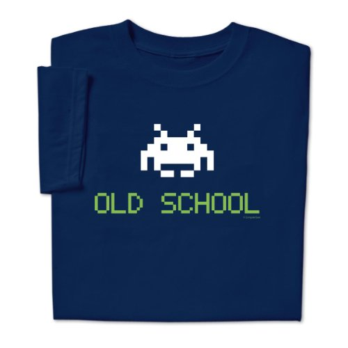 ComputerGear Mens Old School (Space Invaders) T-shirt - S to 4XL