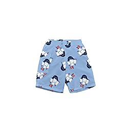 i play. Baby-boys Ultimate Snap Swim Trunks (6/12 Months, Pirate Ships)