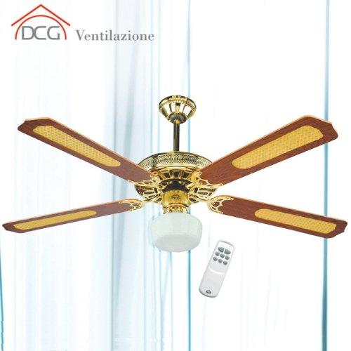 Ventilatore da soffitto 4 pale con telecomando dcg eltronic for Ventilatore a pale