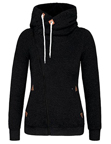 Yidarton-Sweat-Femme-a-Capuche-Zipp-Pullover-Hiver-Casual-Veste-Hoodie-Tops-Jumper