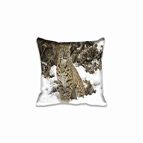 Animals/Wild Winter Snow Bobcat pillow Case ,Pillow Protector Pillow Cushion Cover Standard Size Two Side Print Pillowcase