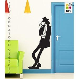 Adesivo murale Wall Sticker Jigen singolo  Misure 53x120 cm  Decorazione parete, adesivi per muro   Valutazione del cliente