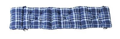 Ambientehome Deckchair Auflage für Liege, kariert blau, ca 195 x 49 x 8 cm, Polsterauflage, Kissen von Ambientehome - Gartenmöbel von Du und Dein Garten