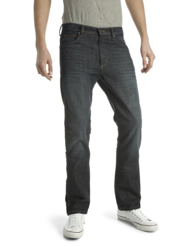 Wrangler Arizona Straight Men's Jeans Stretch Grey 40W x 32L
