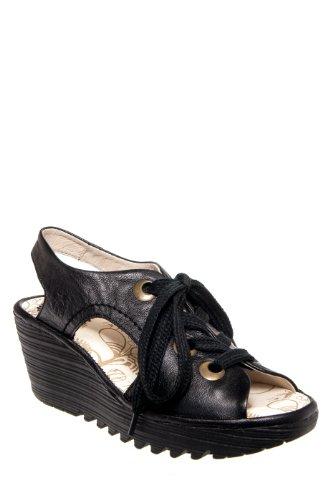 Fly London Ylva Mid Heel Platform Wedge Sandal